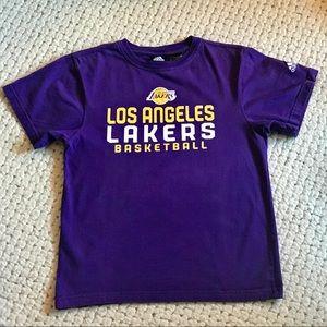 Adidas Los Angeles Lakers NBA Purple Tee Top S NWT